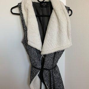 Tie Front Fuzzy Vest
